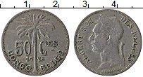 Изображение Монеты Бельгийское Конго 50 сантим 1925 Медно-никель XF- Альберт I