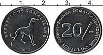 Изображение Монеты Сомалиленд 20 шиллингов 2002 Сталь UNC