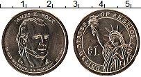 Изображение Монеты США 1 доллар 2009 Латунь UNC 11-й президент США Д