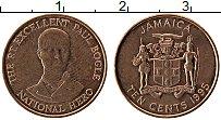 Изображение Монеты Ямайка 10 центов 1995 Бронза UNC-