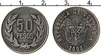 Изображение Монеты Колумбия 50 песо 2003 Медно-никель UNC-