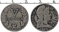 Изображение Монеты Колумбия 5 сентаво 1946 Медно-никель VF