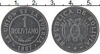 Изображение Монеты Боливия 1 боливиано 1987 Сталь XF