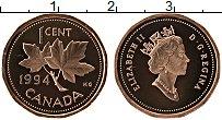 Изображение Монеты Канада 1 цент 1994 Бронза Proof Елизавета II.