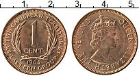 Изображение Монеты Карибы 1 цент 1965 Бронза UNC- Елизавета II.