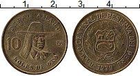 Изображение Монеты Перу 10 соль 1979 Латунь UNC- Тупак Амару