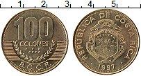 Изображение Монеты Коста-Рика 100 колон 1997 Латунь UNC-