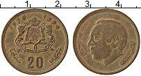 Изображение Монеты Марокко 20 сантим 1974 Латунь XF