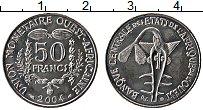 Изображение Монеты Западная Африка 50 франков 2004 Медно-никель UNC-
