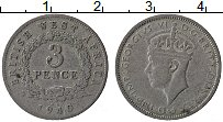 Изображение Монеты Западная Африка 3 пенса 1940 Медно-никель VF