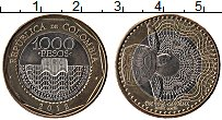 Изображение Монеты Колумбия 1000 песо 2012 Биметалл UNC-
