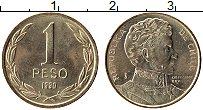 Изображение Монеты Чили 1 песо 1990 Латунь UNC-