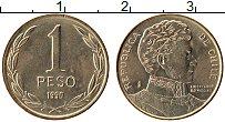 Изображение Монеты Чили 1 песо 1990 Латунь UNC- Бернардо О'Хиггинс