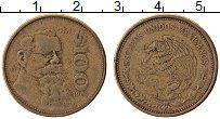Изображение Монеты Мексика 100 песо 1985 Латунь XF Венустиано Карранса