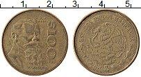 Изображение Монеты Мексика 100 песо 1990 Латунь XF Карранза