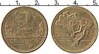 Изображение Монеты Бразилия 2 крузейро 1949 Латунь UNC-