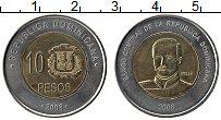 Продать Монеты Доминиканская республика 10 песо 2005 Биметалл
