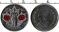 Изображение Монеты Канада 25 центов 2010 Медно-никель UNC- Цифровая печать. Ели