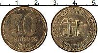 Продать Монеты Аргентина 50 сентаво 2009 Латунь