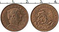 Изображение Монеты Мексика 5 сентаво 1964 Латунь UNC-