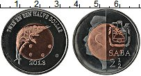 Изображение Монеты Нидерланды Саба 2 1/2 доллара 2013 Биметалл UNC-