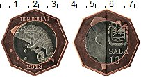 Изображение Монеты Нидерланды Саба 10 долларов 2013 Биметалл UNC-