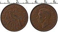 Изображение Монеты Новая Зеландия 1 пенни 1952 Бронза XF Георг VI