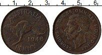 Изображение Монеты Австралия 1 пенни 1948 Бронза VF Георг VI