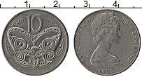 Изображение Монеты Новая Зеландия 10 центов 1980 Медно-никель XF Елизавета II