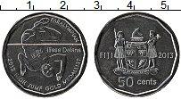 Изображение Монеты Фиджи 50 центов 2013 Медно-никель UNC- Первый паралимпийски