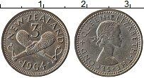 Изображение Монеты Новая Зеландия 3 пенса 1964 Медно-никель XF+