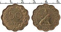 Изображение Монеты Парагвай 50 сентим 1953 Латунь UNC-