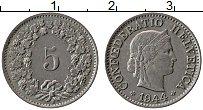 Изображение Монеты Швейцария 5 рапп 1944 Медно-никель XF