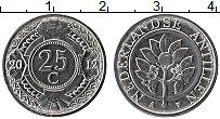 Изображение Монеты Антильские острова 25 центов 2012 Медно-никель UNC- Герб