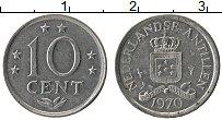 Изображение Монеты Антильские острова 10 центов 1970 Медно-никель XF