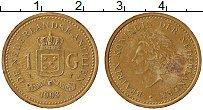 Изображение Монеты Антильские острова 1 гульден 1993 Латунь XF Беатрис