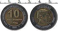 Изображение Монеты Уругвай 10 песо 2000 Биметалл UNC- Артигас
