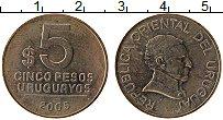 Изображение Монеты Уругвай 5 песо 2005 Латунь XF
