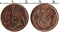 Изображение Монеты ЮАР 5 центов 2009 Бронза UNC-