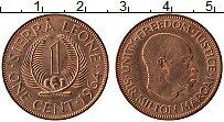 Изображение Монеты Сьерра-Леоне 1 цент 1964 Бронза UNC- Милтон Маргаи