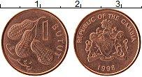 Продать Монеты Гамбия 1 бутут 1998