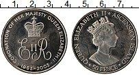 Изображение Монеты Остров Вознесения 50 пенсов 2003 Медно-никель UNC 50 лет коронации Ели