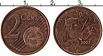 Изображение Монеты Франция 2 евроцента 2007 Бронза UNC-