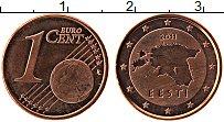 Продать Монеты Эстония 1 евроцент 2011 сталь с медным покрытием