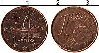 Продать Монеты Греция 1 евроцент 2010 Медь