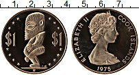 Изображение Монеты Острова Кука 1 доллар 1975 Медно-никель Proof-
