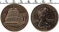 Изображение Монеты Новая Зеландия 1 доллар 1978 Медно-никель UNC Здание парламента.Ел
