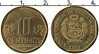 Изображение Монеты Перу 10 сентим 2008 Латунь UNC-