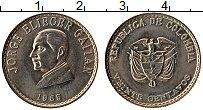 Изображение Монеты Колумбия 20 сентаво 1965 Медно-никель UNC-