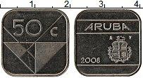 Изображение Монеты Аруба 50 центов 2008 Медно-никель UNC-
